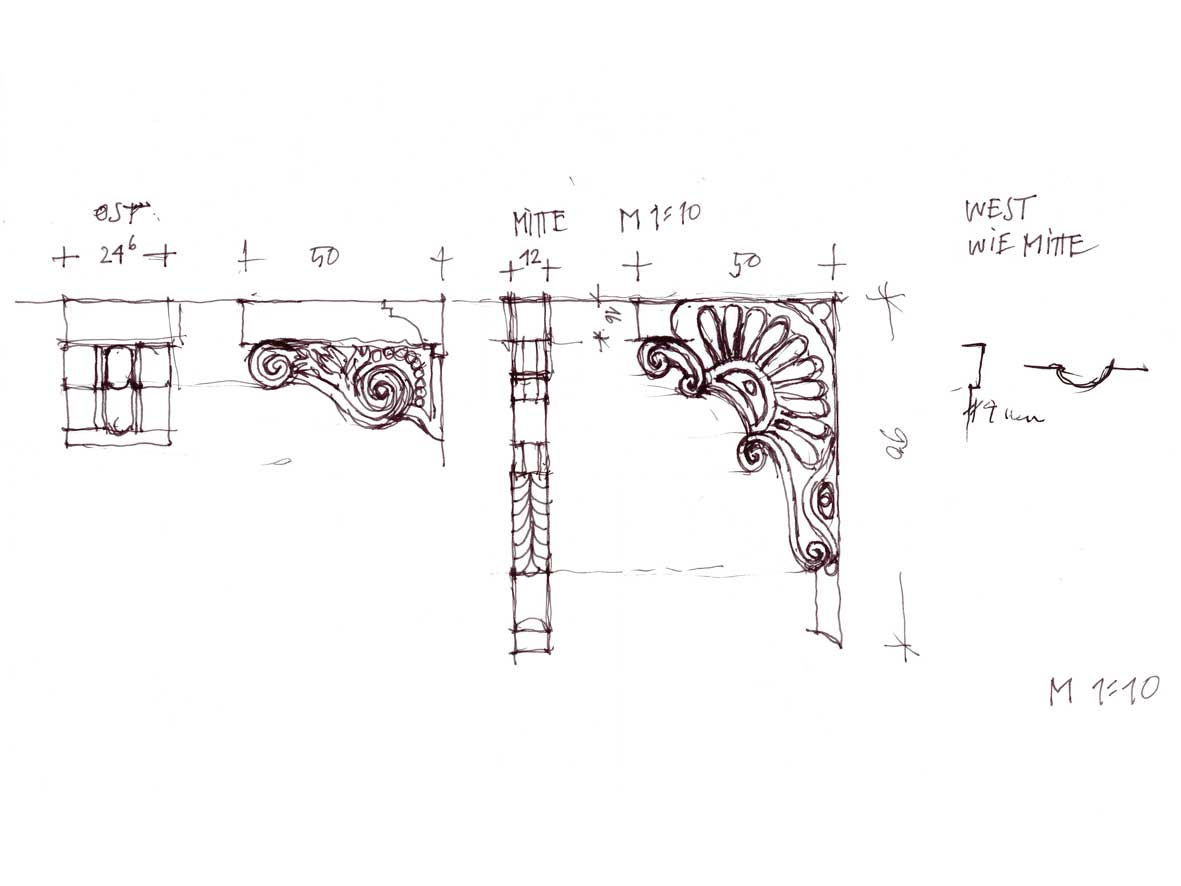 Customer's drawing of corbels